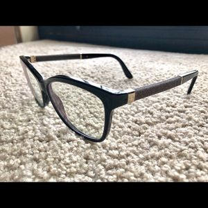 03655be043f Jimmy Choo Accessories - Jimmy Choo Frames 105 P9X 135 Black Glitter